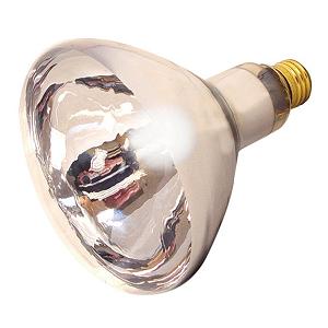 Clear Heat Lamp Bulb, 250watt
