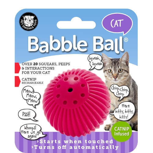 Pet Qwerks Babble Ball with Catnip Infused