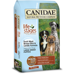 Canidae All Life Stages Large Breed Puppy Food With Duck Meal, Brown Rice and Lentils