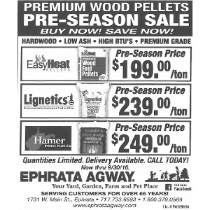 Premium Wood Pellets Pre-Season Sale