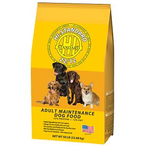 Hi-Standard Maintenance Dog Food 22/12 50lb