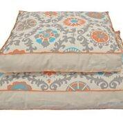 Original Digs Pet Bed- Natural Rosa Orange And Turquoise
