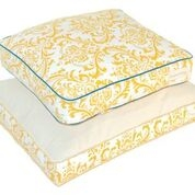 Original Digs Dog Bed- Yellow Traditions Blue