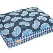 Original Digs Pet Bed- Cobalt Blue Paisley Plaid