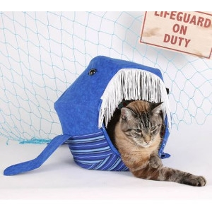Blue Whale Cat Ball Cat Bed