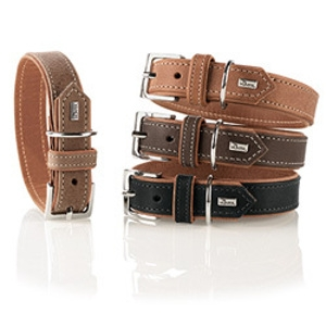 Hunter Organic Leather Dog Collar and Leashes