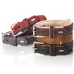 Hunter Elk Leather Dog Collar and Leashes