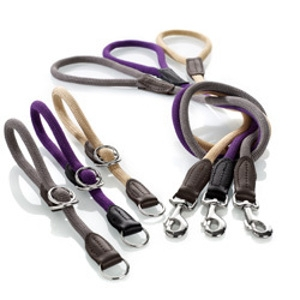 Hunter Rope Dog Collar and Leashes
