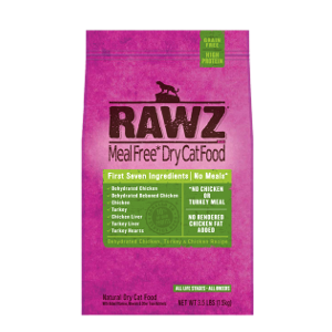Rawz Dehydrated Chicken, Turkey and Chicken Recipe For Cats