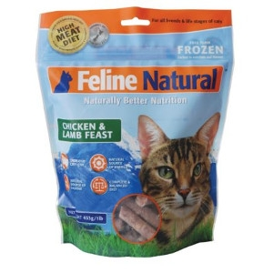 Feline Natural Frozen Chicken And Lamb Feast