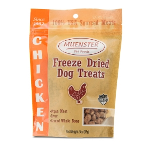 Muenster Natural Freeze Dried Chicken Dog Treats