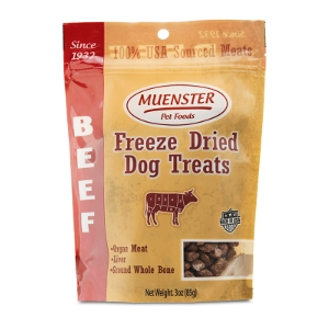 Muenster Natural Freeze Dried Beef Dog Treats