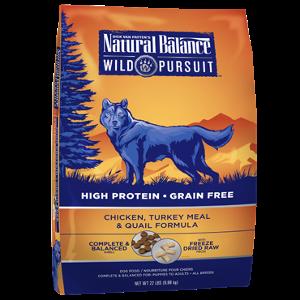Wild Pursuit™ Chicken, Turkey Meal & Quail Dry Dog Formula