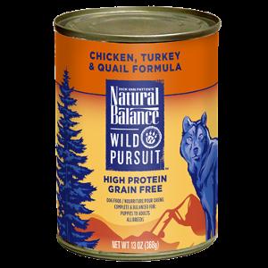 Wild Pursuit™ Chicken, Turkey & Quail Canned Dog Formula