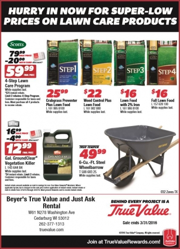 Lawn Care Product Sale!
