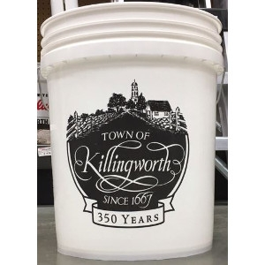 True Value, 5 Gallon, White Plastic Pail