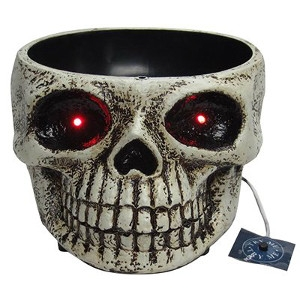Halloween LED Haunted Candy Bowl, 5 x 11-In.