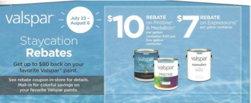 Staycation Rebates on Valspar Paint