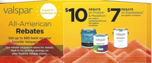 All-American Rebates on Valspar Paint
