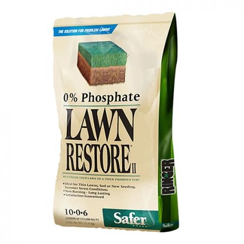Ringer Lawn Restore II Fertilizer 10-0-6, 25lbs.