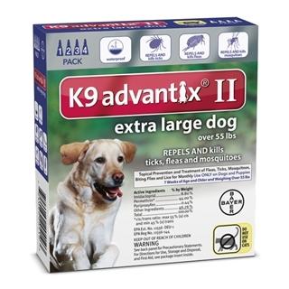 K9 Advantix II Flea Treatment for Extra Large Dogs, 4 Pack