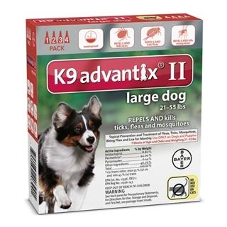 K9 Advantix II Flea Treatment for Large Dogs, 4 Pack