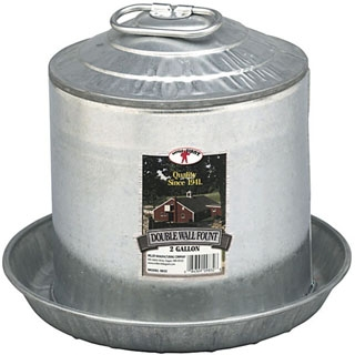 Little Giant Double Wall Fount/Waterer, 2 gallons