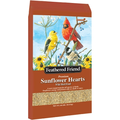 Feathered Friend Sunflower Hearts, 40lbs.