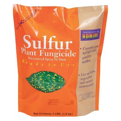 Bonide Sulfur Plant Fungicide Micronized Dust, 4lb