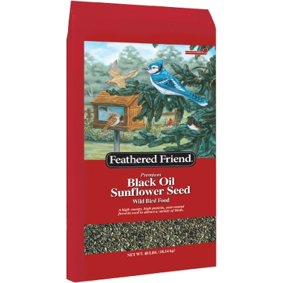 Feathered Friend Black Oil Sunflower Seed, 40 lbs.