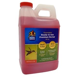 More Birds Hummingbird Nectar Ready To Use Premium Nectar 64 oz