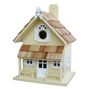 Home Bazaar Victorian Cottage Yellow Birdhouse