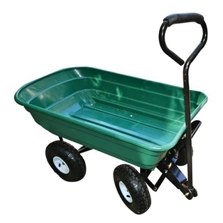 Mighty Garden Green Dump Bin Yard Cart, 600 lb. Capacity