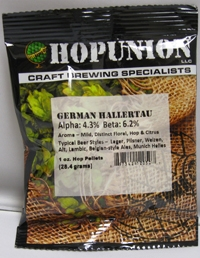 HOP PELLETS GERMAN HALLERTAU 1 OZ