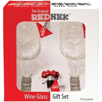 Rednek 3-Piece Wine Set with Faucet Stopper