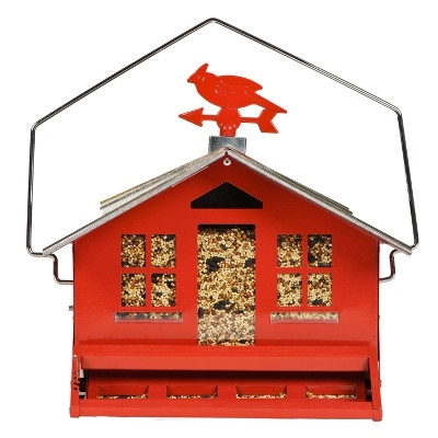 Squirrel B Gon 2 Red Barn Birdfeeder