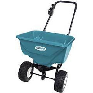 """Agway Deluxe Broadcast Spreader with 9"""" Pneumatic Wheels"""