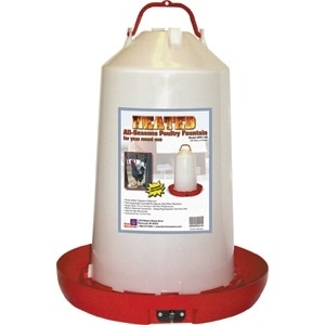 Heated 3 Gallon Poultry Fountain