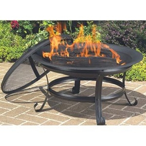 Fire Bowl with Scroll Legs