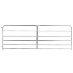 6 Bar Economy Galvanized Tube Gate 10'