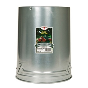 Little Giant Galvanized Hanging Feeder with Feeder Pan, 30 lbs.