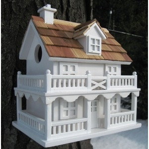 Home Bazaar Wooden Novelty Cottage Bird House