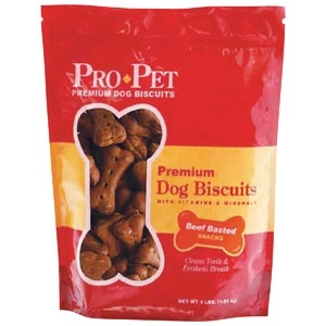 Beef Basted Dog Biscuits 4lb.