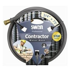 Swan Contractor Heavy Duty Water Hose, 3/4in X 75ft