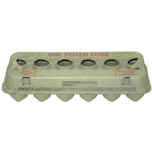 Large Yellow Egg Carton - 125 pack