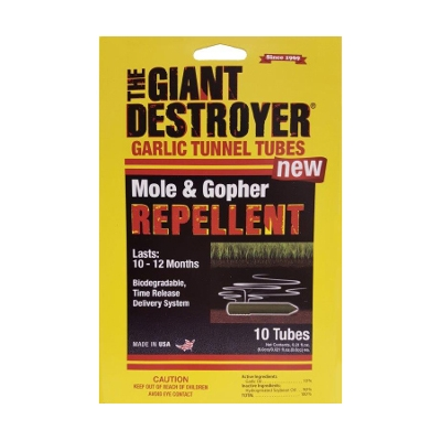 The Giant Destroyer Garlic Mole Tunnel Tube Repellent, 10 Pack