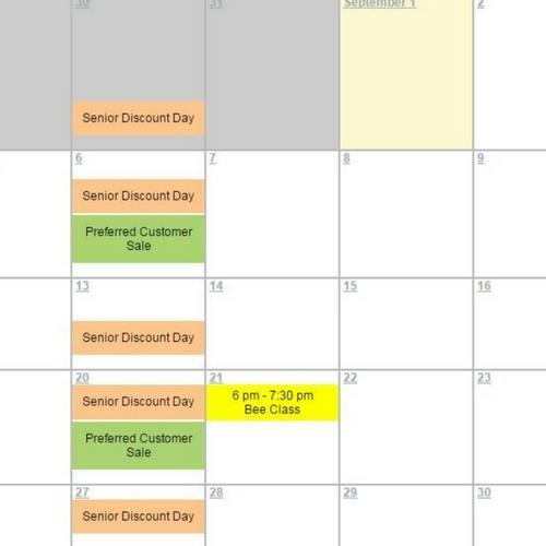 September Event Calendar