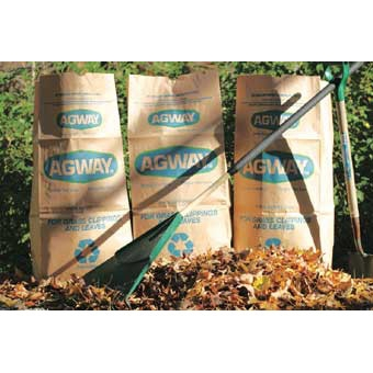 Agway Brown Paper Lawn & Leaf Bags, 5 pack