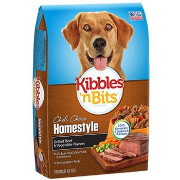 Kibbles N Bits Homestyle Beef Dry Dog Food, 40 lbs.