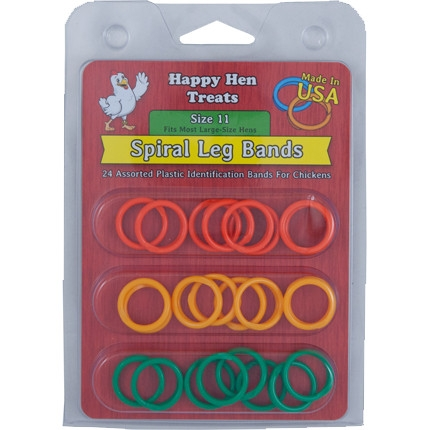Happy Hen Spiral Leg Bands, Size 11 Large